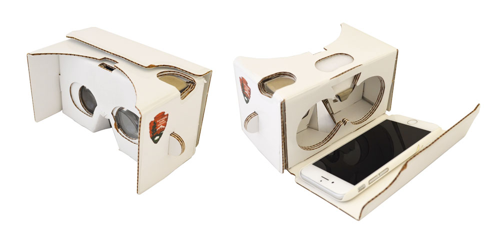 This affordable Google Cardboard virtual reality viewer is one way to experience the virtual tour using the app on a smartphone.
