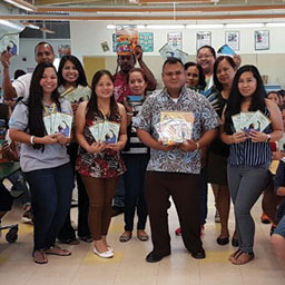PHP Visits Elementary Schools on Tinian and Rota to Donate Books